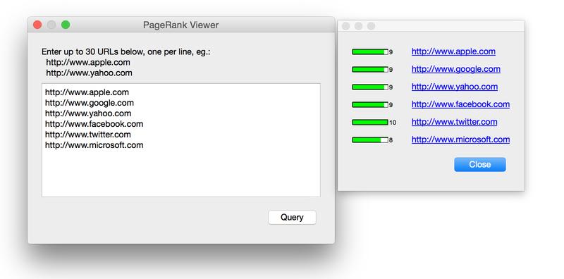 PageRank Viewer for Mac full screenshot